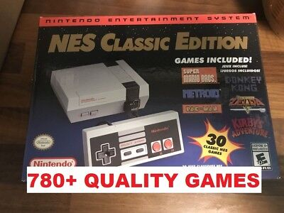 Authentic Nintendo Nes Classic Mini Edition 780  Games   Game List Shown Modded