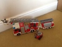 Playmobil Fire engine and trailer