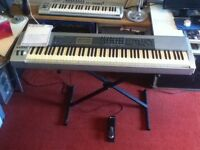 M-Audio Keystation Pro 88 USB master MIDI controller. Incl sustain pedal ,stand and manual.