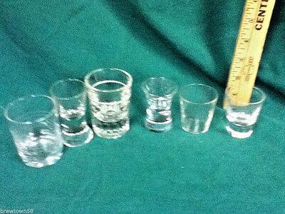 Unique shot glasses 6 clear glass plain shots shooters glassware barware Y4