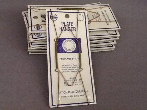 """12 pcs Spring Plate Wire Brass Plate Hangers – 8"""" to 11"""" plate – New -  H12"""