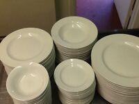 Job lot plates,bowls all white coloured white.
