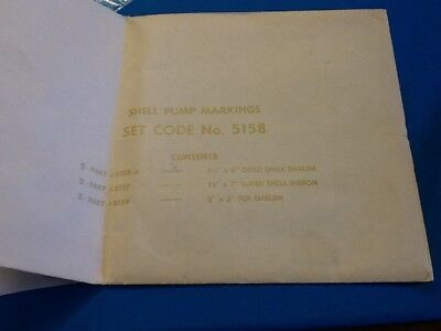 "VINTAGE SHELL ORIGINAL UNUSED PUMP DECAL!  DATED MAY 1963!  5 1/2"" X 6"" DECAL!"