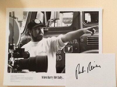 Rob Reiner Signed Index Card with Photos Actor Director    Princess Bride