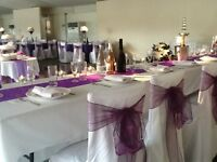 Chair Covers, Chocolate Fountain, Table Linen, Table Centrepieces and more!!