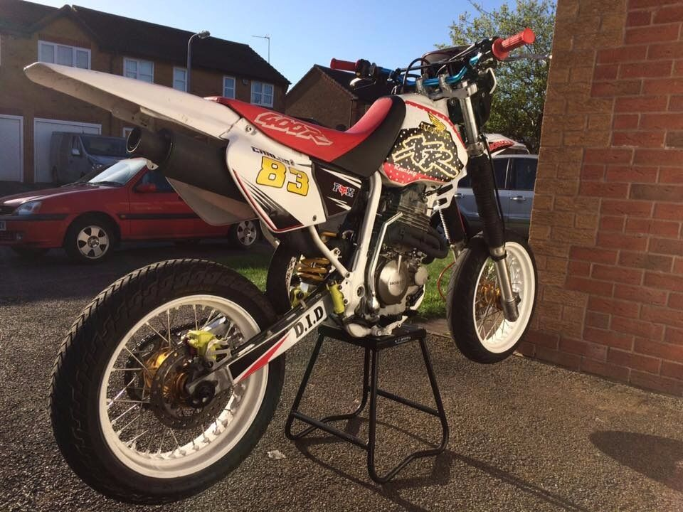 honda xr 400 supermoto in branston staffordshire gumtree. Black Bedroom Furniture Sets. Home Design Ideas