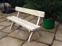 Bespoke wooden garden bench