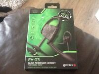 Ex-03 inline messenger headset for x box 360 x 3 of them New