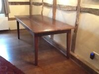 Large old dining table
