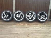 Multi spoke 17 inch alloy wheels