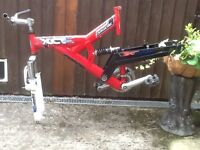 BICYCLE FRAME FOR SALE (INCLUDES HANDLEBARS AND FORKS )