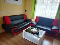 SUPER FAST DELIVERY! BEAUTIFUL PALERMO 3&2 SEATER LEATHER MADE COUCHES