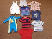 Bundle of summer clothes 9-12 months