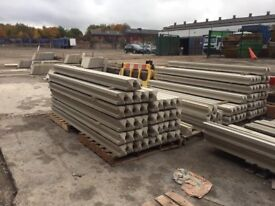 9ft Reinforced heavy duty concrete fence posts