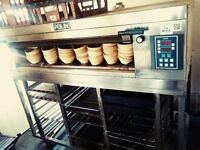 Single Deck Polin Bakery/Bread Oven. 3 tray, high crown