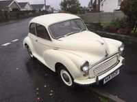 1968 MORRIS MINOR 1000 IN OLD ENGLISH WHITE WITH CHEROKE RED INTERIOR TOTALLY RESTORED NEW MOT