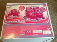 GIrls Rollerskates adjustable to fit size 9-12 Great Condition