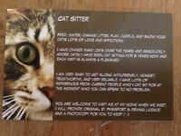 Cat sitter/cat feeding/ cat feeder North and East London - Friendly,reliable cat lover :)