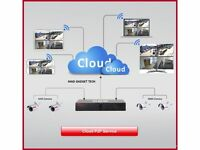 AHD CCTV DVR WITH HARD DRIVE REMOTE CLOUD NVR P2P HDMI VIEWING ON MOBILE, TABLETS, PC