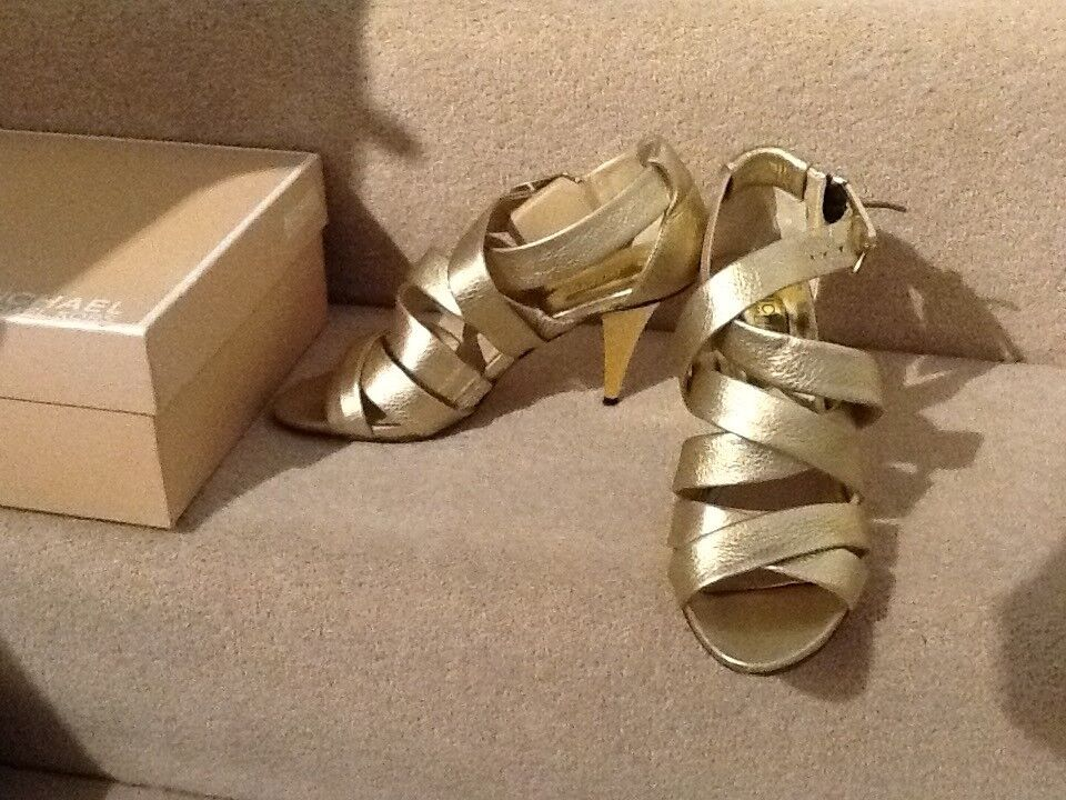 Beautiful gold Michael Kors party shoes