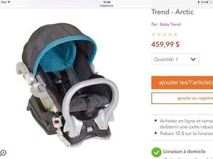 Coquille + base Baby Trend