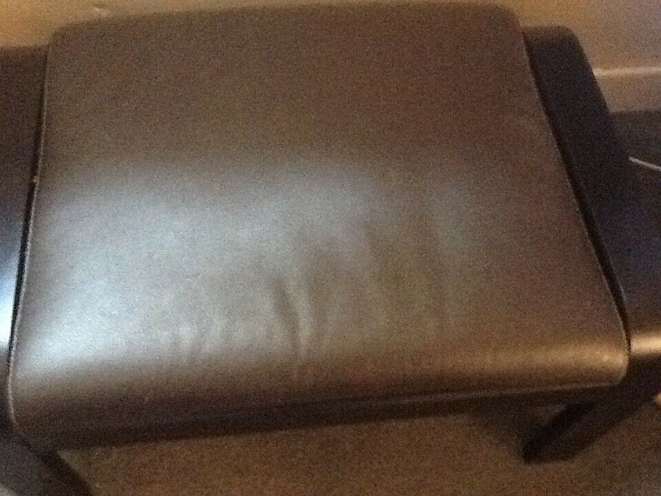 Large Leather Seated Footstool In Springboig Glasgow
