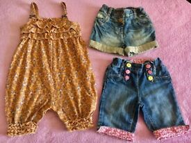 Stunning baby girls Shorts and Dungarees Bundle , 12-18 Month