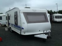 2008 hobby 695 vip collection 5 berth fixed island bed twin axel