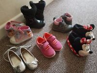 Girls shoes, boots, trainers, slippers size 7