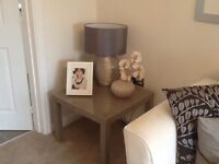 Brand new grey/beige high gloss square coffee table