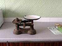 Old fashioned weigh scales