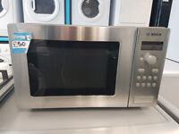 a002 stainless steel bosch microwave oven comes with warranty can be delivered or collected