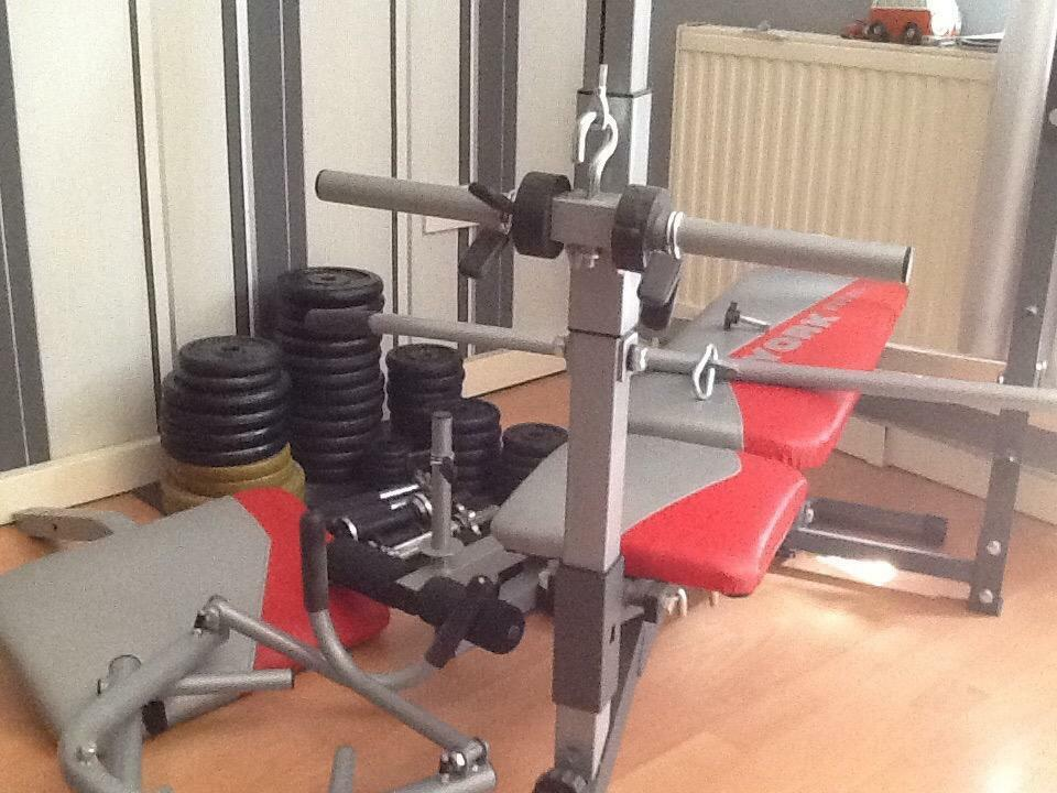 york fitness multi bench and weight stack in sheffield