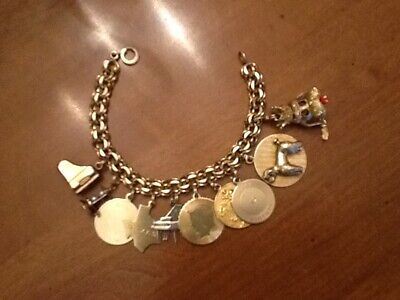 Gold Charm Bracelets (Antique Vtg Gold Filled 7