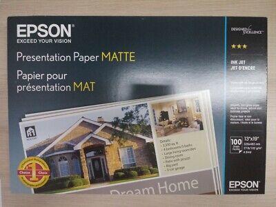 "Epson 13"" x 19"" 100 Sheets Matte Presentation Matte  Paper S041069L ()"