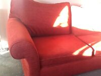 FREE large 3 seater and 2 seater sofa - good condition - red fabric
