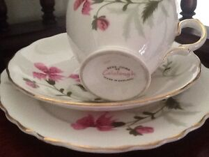 BONE CHINA TEA CUP SAUCER AND PLATE MADE IN ENGLAND. COLCLOUGH Richardson Tuggeranong Preview