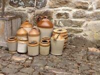 Cider flagons, jugs and pots