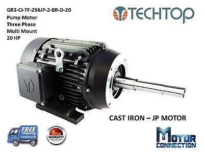 20 Hp Electric Motor Pump 3600 Rpm 256jp 3-phase Nema Premium