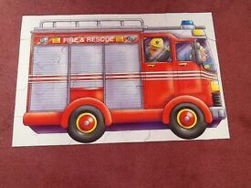 Big Red Fire Engine Floor Puzzle - 44 Pieces in original box