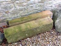 2x sandstone lintels