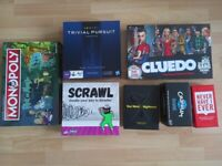 BOARD GAMES: RICK AND MORTY MONOPOLY, BBT CLUEDO, TRIVIA PURSUIT AND OTHERS