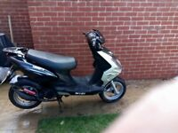 2011 SkyJet Moped SPARES OR REPAIR £200.ono no silly offers!