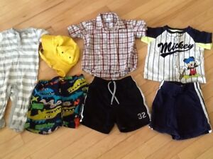 Lot of summer clothes for boys size 12-18 month