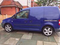VW Caddy van,Blue