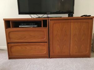 TV entertainment Unit plus storage cabinet Cronulla Sutherland Area Preview