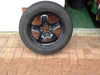 Vauxhall Steel Structure Wheel, 16 Inch, with Continental Tyre Fitted, Size 205/55/R16