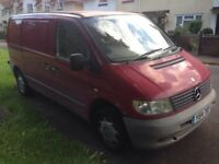 2001 Mercedes Vito 110 Cdi in red with very short mot