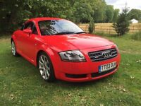 AUDI TT 225 RED WITH RED LEATHER TIMING BELT WATER PUMP JUST DONE MAY PX SWAP