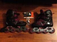 Olexo play 7 purple inline roller boots new